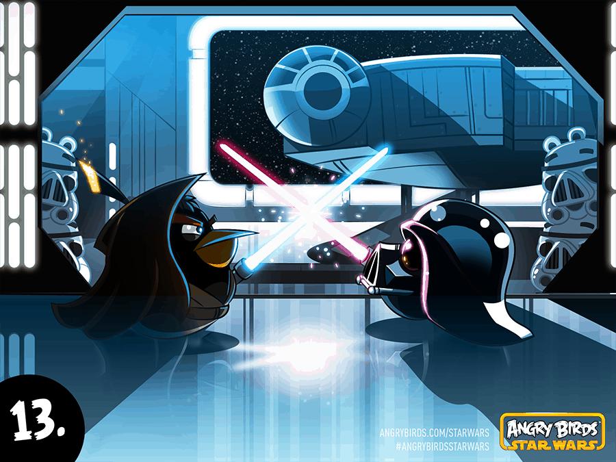 Angry Birds Obi-Wan vs Dark Vader