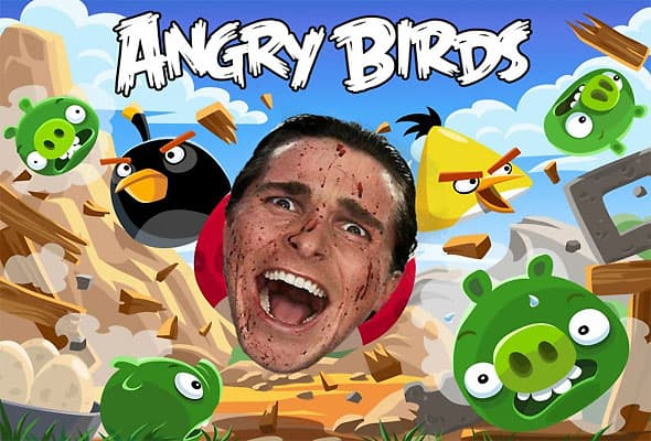Angry Birds Reimagined with Christian Bale