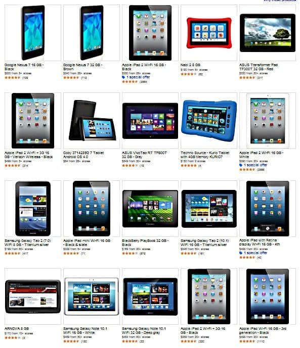 Tablets Galore