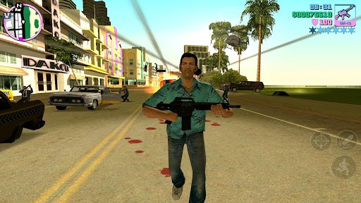 Tommy Vercetti laying down the law in Vice City