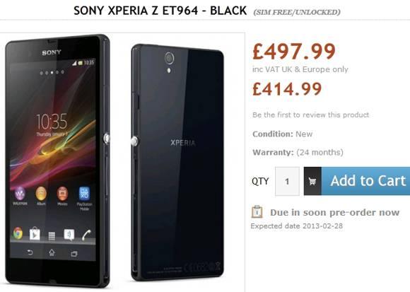 Sony-Xperia-Z-UK-February-launch