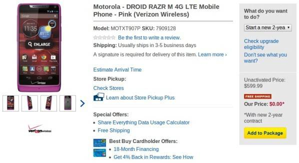 Verizon-Motorola-Droid-RAZR-M-free-Best-Buy