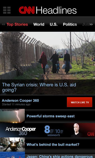 CNN App Layout