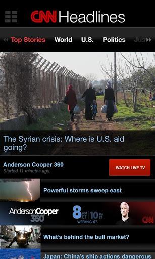 CNN App Layout