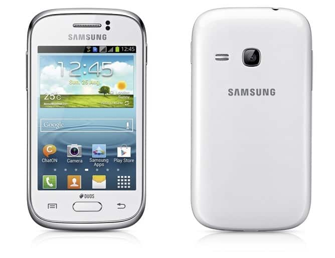 Galaxy Young Front and Rear