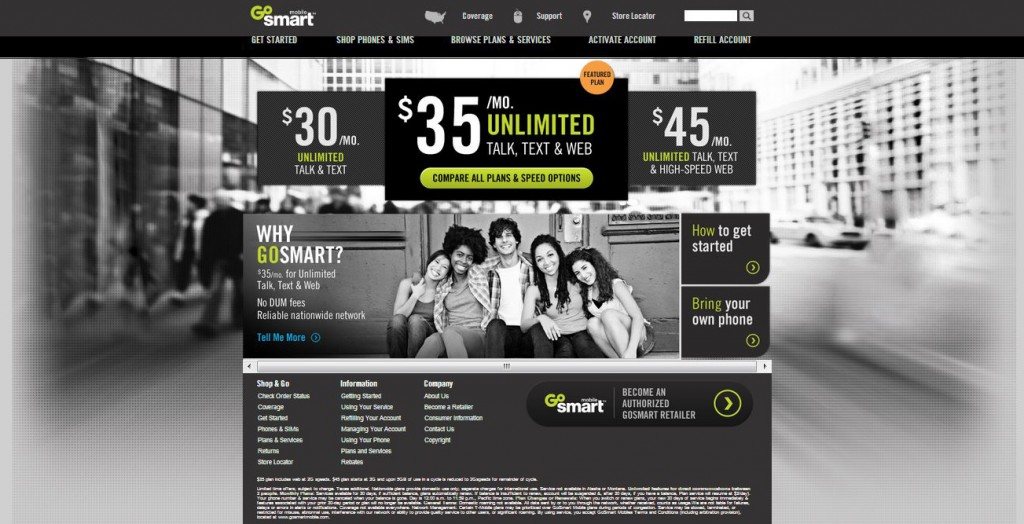 GoSmart Mobile Web Site
