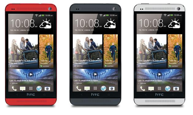 HTC one red black and white