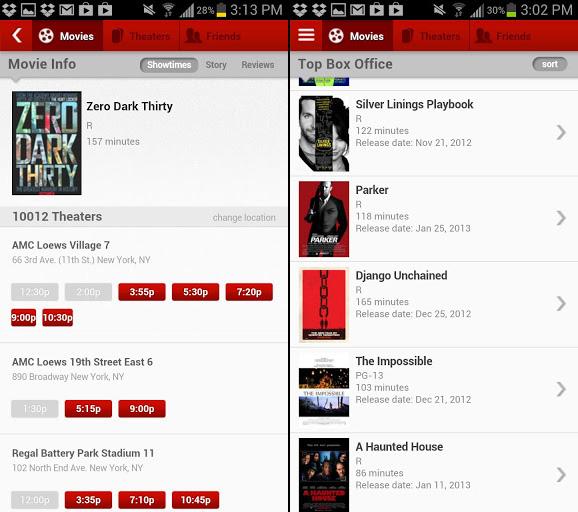MoviePass Mobile App Listings