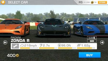 Real Racing 3 Android Zonda R