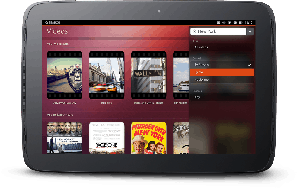 Ubuntu Tablet Search