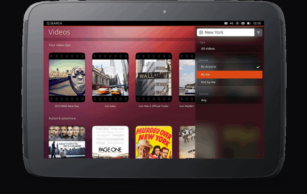 Ubuntu Tablet Search