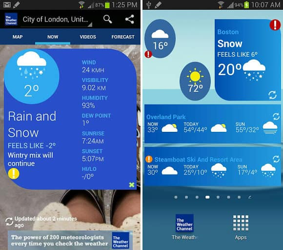 Weather Channel App Forecasts