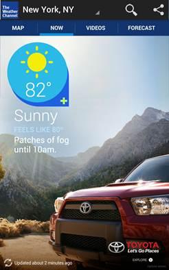 Weather Channel App UI