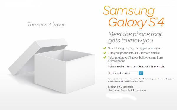 ATT Galaxy S4 Page