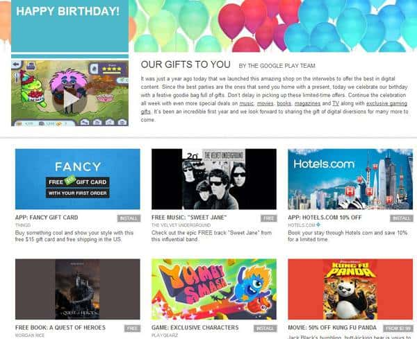 Happy Birthday Google Play!