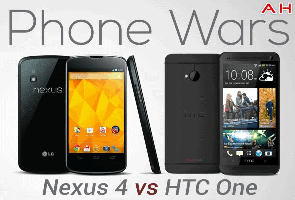 Phone Wars Nexus 4 vs HTC One