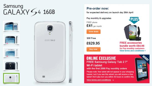 Samsung Galaxy S4 - Carphonewarehouse.com