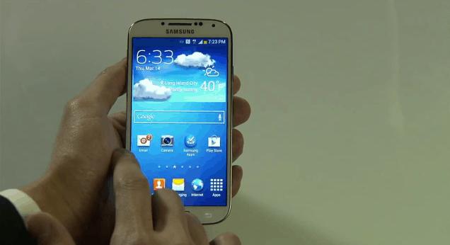 galaxy s4-home screen