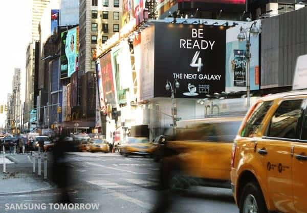 times square samsung galaxy s4 launch billboard 4