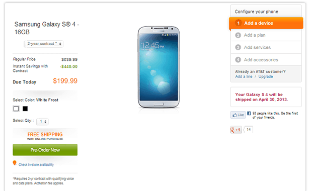 AT&T Galaxy S4