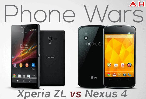 Android Phone Wars - Sony Xperia ZL vs Nexus 4