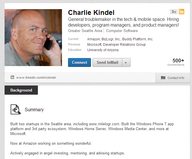 Charlie Kindel Profile