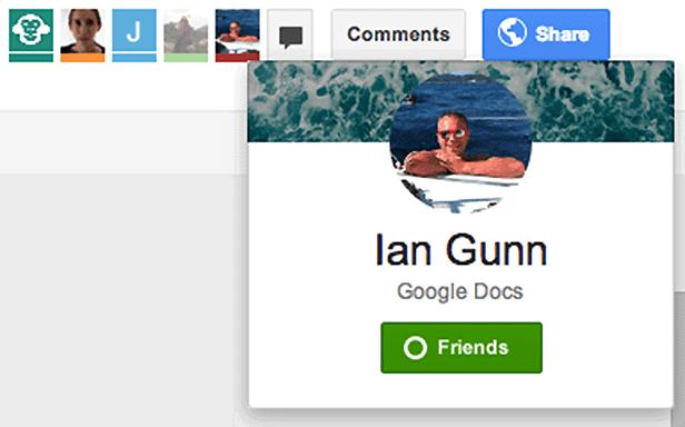 Google Drive Social Features