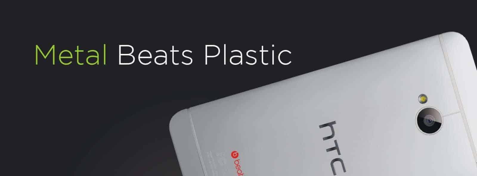 HTC VS Samsung HTC ONE S4 plastic