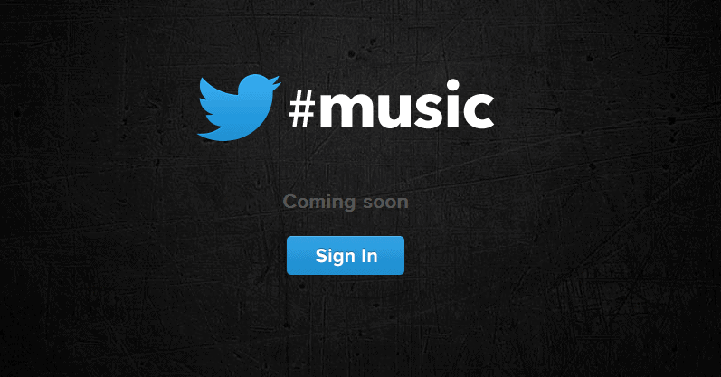 Twitter Music Service