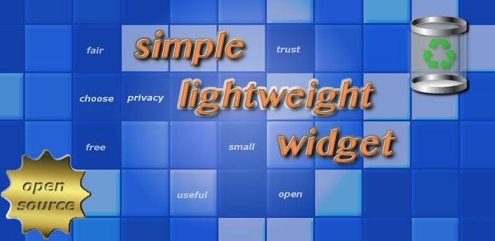 simple cache cleaner widget