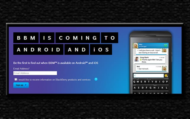 BBM coming to Android