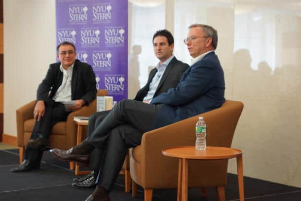 Eric Schmidt during Event in New York on May 6th