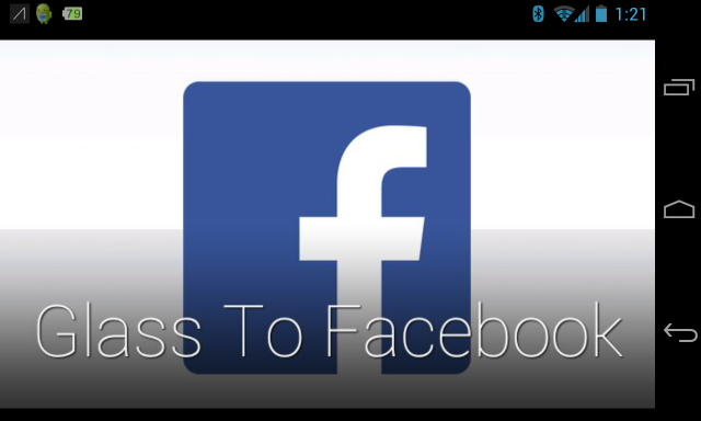 Glass to Facebook screenshot