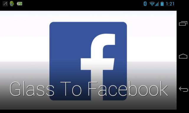 Glass to Facebook screenshot