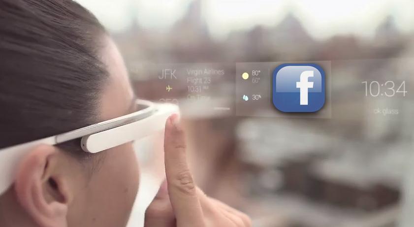 Google Glass Facebook Logo
