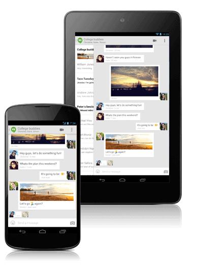 Google Hangouts on Nexus Devices