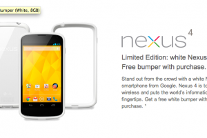 White Nexus 4 Now Available From Google, T-Mobile In US