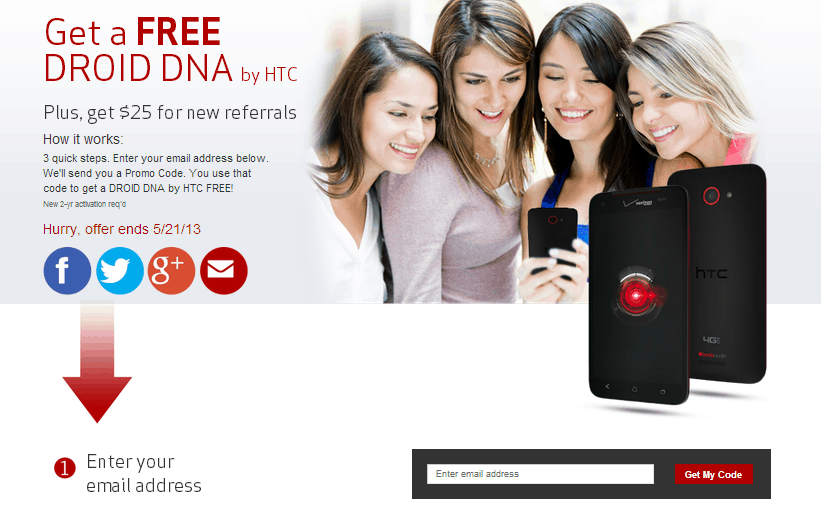 Verizon Droid DNA Promotion