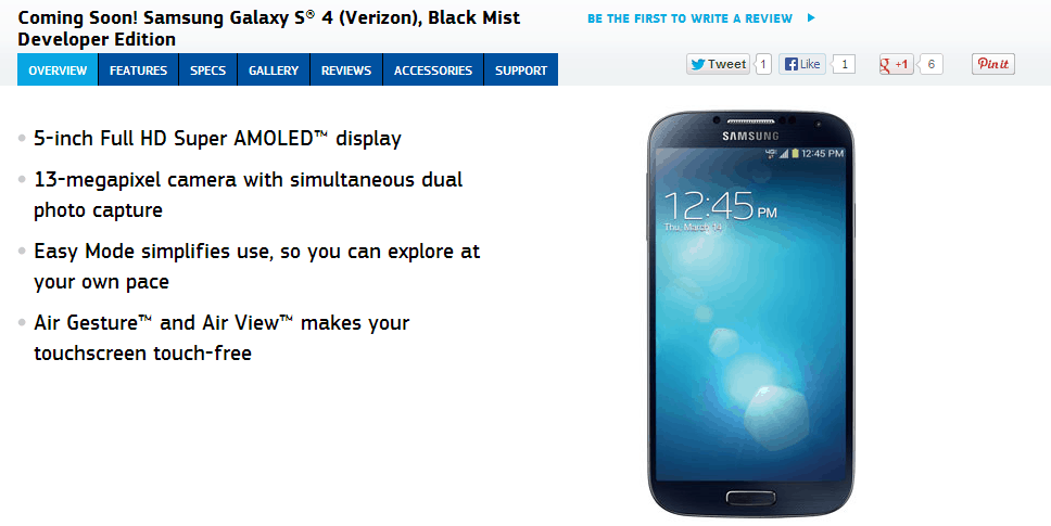 Verizon Galaxy S4 Dev Edition Coming Soon