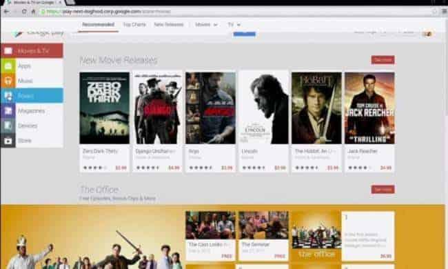 Google Play store screenshot from Yerga's IO presentation