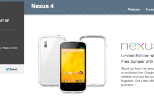 PSA: 16GB White Nexus 4 Already Sold Out From Google Play