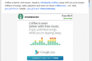 Google and Starbucks Offering free Unlimited Music from Google Play Music All Access