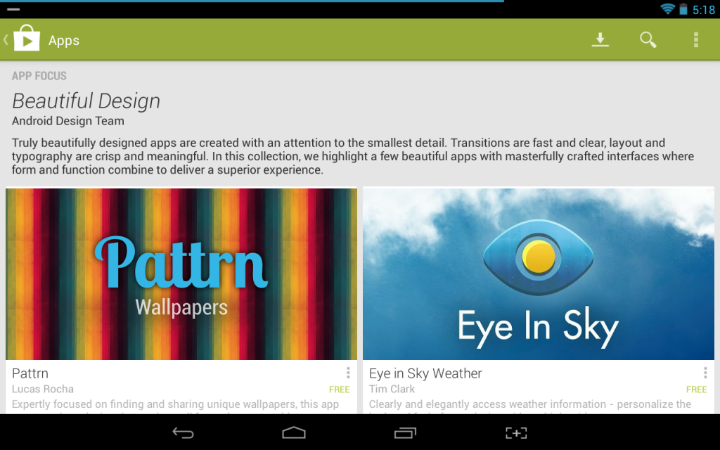 Beautiful Design Google Play
