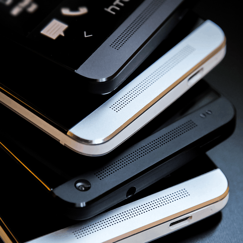 HTC One stacked