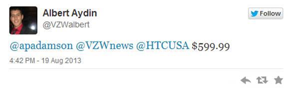 HTC One Tweet