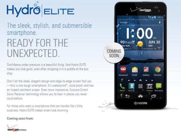 Hydro Elite on Verizon