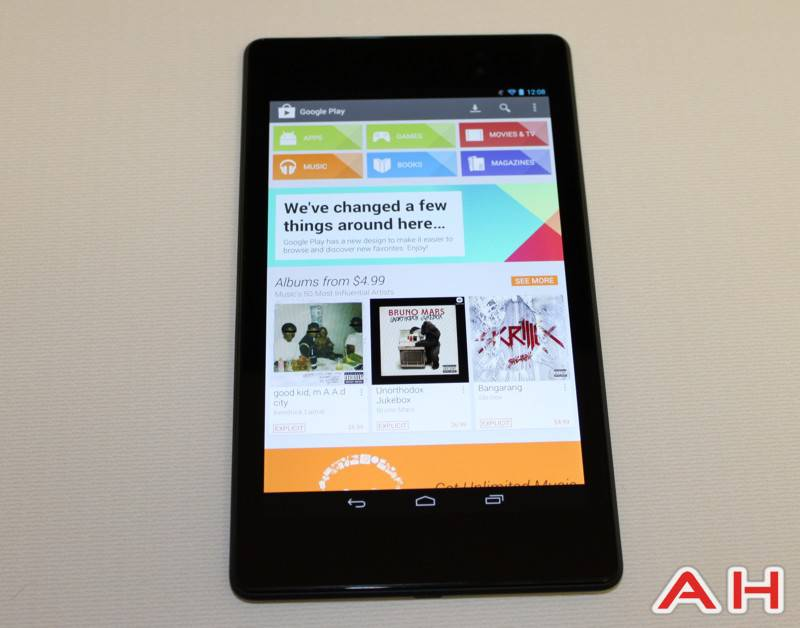 New Nexus 7 2 AH 13 playstore