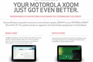 Verizon Approves Android 4.2 for the Motorola XOOM 4G LTE – No This Isn't a Joke!
