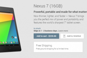New Nexus 7 (2013) Available On The Google Play Store For Canadian Customers
