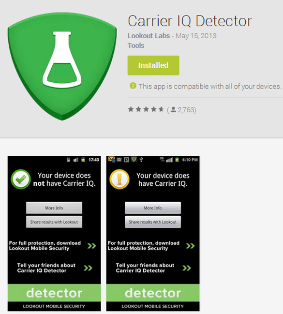 Carrier IQ Detector